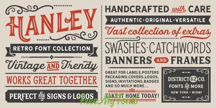 Hanley Pro Font Family - FreeMyFonts