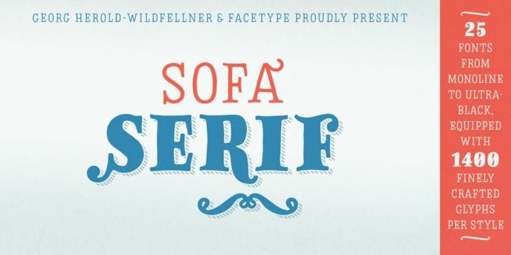 Sofa Serif Hand Font Family - FreeMyFonts